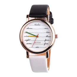 7c230cef551c Chinese Fashion English Letters Words Women's Quartz Watch Lovely Leather  Strap Couple Wrist Watches Lover Clocks