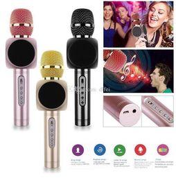 speakers for karaoke 2019 - E103 Karaoke High quality wireless bluetooth microphone phone bluetooth speaker wireless microphone Singsong musical KTV