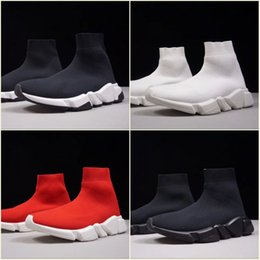 golf speed 2019 - Luxury Sock Shoe Cheap Speed Trainer Running Shoes High Quality Sneakers Sock Race Runners Red Black White Shoes men&wom