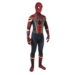 $enCountryForm.capitalKeyWord UK - Superhero The Avengers 3 Spiderman Homecoming Cosplay Rompers Costume Zentai Iron Spider man Bodysuit Jumpsuits