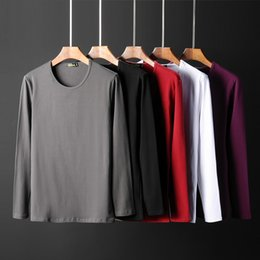 Sleep Clothes NZ - Men Nightshirt blank white sleepwear cotton nightwear Long sleeved male sleep clothing plus size Underwear summer homewear man