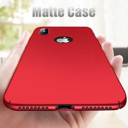 Опт Ультра тонкий матовый защитный чехол для iPhone X Case жесткий PC пластик задняя крышка для iPhone 7 6 6 S 8 Plus телефон Case Капа Коке