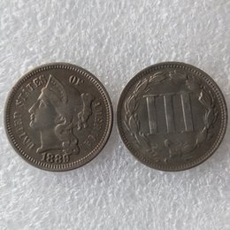 Copy Coins Wholesalers Australia - US 1889 THREE CENT NICKEL Coin Copy Coins home decoration accessories