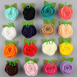Felt Hair Accessories For Girls NZ - 2 inch Felt Flower Diy Flower For Girls Hair Accessories Headband Hairband Hair Clip 26Colors 120Pcs Free Shipping