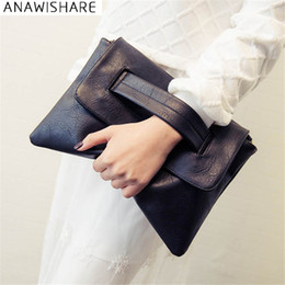 Ivory Handbags Canada - ANAWISHARE Women Leather Handbags Day Clutches Bags Black Crossbody Bags Messenger Ladies Envelope Evening Party