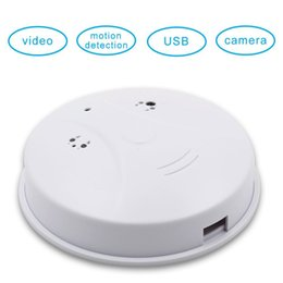 Motion Activated Camera Recorder Australia - 8GB memory 1280x960 HD Indoor Camera Smoke Detector Motion Activated Security DVR Digital Video Recorder Mini DV Camcorder PQ130