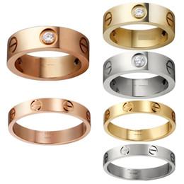 316L titane acier clous bagues amoureux bagues taille pour les femmes et les hommes de marque bijoux pas de boîte d'origine