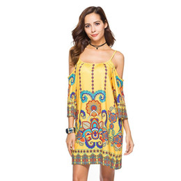 3XL Plus Size 2018 Summer Fashion Print Sling dress Loose Casual chiffon  Dresses Sexy Strapless dress women African Clothes Dashiki Dress 4ef2de980cb1