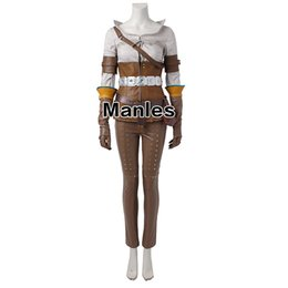 wild woman costume 2018 - lothes women summer The Witcher 3 Wild Hunt Cirilla Costume Cosplay Clothes Game Suit Adult Women Halloween Carnival Who