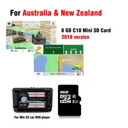 Discount gps car radios - 2018 GPS Map card for WinCE 6.0 car dvd navigation car radio stereo for Australia and New zealand