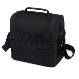 Опт VIGBAGNIA обед мешок изолированный двойной слой пищевой отсеки кулер сумка для мужчин и женщин