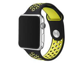 $enCountryForm.capitalKeyWord UK - New Arrived Sport Silicone More Hole Straps Bands For Apple Watch Series 1 2 Strap Band 38 42mm Bracelet VS Fitbit Alta Blaze Charge Flex