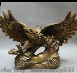 "$enCountryForm.capitalKeyWord Australia - WBY---330+++19"" Chinese Feng Shui Brass Animal Eagle Hawk king of birds Fly Statue Sculpture"