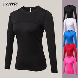 57215b80714cd Vertvie Long Sleeve T-shirts Women Yoga Gym Compression Tights Sportswear  Fitness Quick Dry Running Tops Body Shaper Tee Shirts