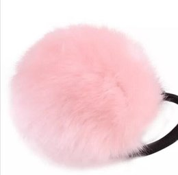 China 2018 Spring New Arrival Fashion 1PC Rabbit Fur Hair Band Elastic Hair Bobble Pony Tail Holder suppliers