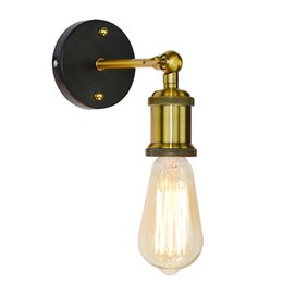 Chinese  Vintage Industrial Wall Sconce Light Metal Home Wall Decor Simple Single Swing Wall Lamp Retro Rustic Light Fixtures Lighting AC90-260V E27 manufacturers