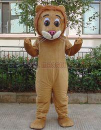 Wholesale lion mascot costumes adults for sale – halloween Little lion mascot costume Adult Size Little lion mascot luxury plush toy carnival party celebrates mascot factory sales