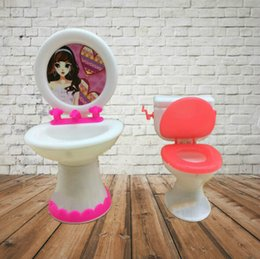$enCountryForm.capitalKeyWord NZ - 2pcs set 1 Closestool +1 Washbasin Toilet Wash Devices For And Doll's House Furniture, Doll Accessories.