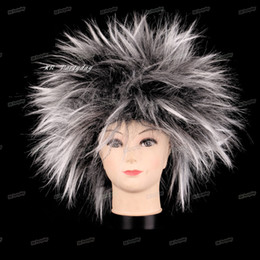 clown hair NZ - Amazing Explosion of head Clown Cap Curly Hair Wig Fans Hats Masquerade Props Birthday Party Decoration Halloween Christmas