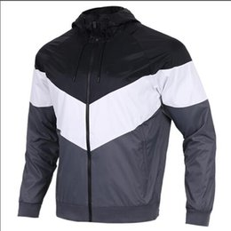 Long styLe women s jackets online shopping - New Designer Jacket Coat With Letters Luxury Mens Hoodie Women Brand Coat Tops Thin Style Long Sleeve Windbreaker Hooded Clothing S XL