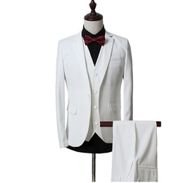 $enCountryForm.capitalKeyWord UK - 2018 Men Suits White Notched Lapel Business Tuxedos Wedding Suits Groomsman Slim Fit Formal Prom Blazer Best Man Evening Dress Party 3Piece