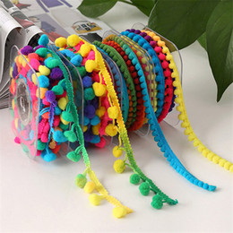 Diy plush ball online shopping - Meetee Ball Fringe Macrame For Curtain Ornament Colorful Pom Pom Lace Trim For Clothing Plush Ribbon cm DIY Handmade Sewing Accessory