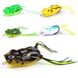 Jigs Lures For Fishing Australia - MEREDITH Popper Frog 11.7g 5.3cm 5pcs Frog Lures Soft Baits for Snakehead Bass Lures Frog Fishing Floating Topwater