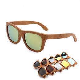 Bamboo Frames Wholesale UK - HARKO ,2018 New fashion Bamboo Sunglasses Men Women Glass au Retro Vintage Wood Lens Wooden Frame Handmade