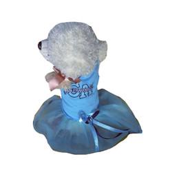 MediuM rhinestone dog harness online shopping - Blue Dog Dress Pink Party Tutu Harness Formal Medium Large XL XXL Rhinestones Stone Decor Home Lace Pet Puppy Dress for Girls