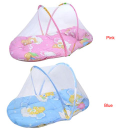 Crib Decorations Canada - Baby Bed mosquito net Cushion Portable Folding Crib Mattress Child bed canopy nordic style kids decoration moustiquaire #TX