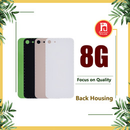 Logo for iphone online shopping - For iPhone Back Battery Cover Back Glass Logo Adhesive Rear Door Panel Glass Housing Case Repair Replacement Part for iphone8 G