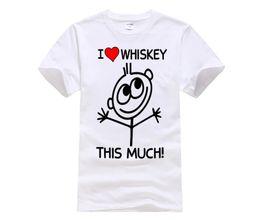 1c077462b MENS FUNNY COOL NOVELTY LOVE WHISKEY WHISKY SLOGAN JOKE T-SHIRTS GIFTS PUB  BEER New Tops Print Letters Men T Shirt