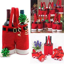 $enCountryForm.capitalKeyWord Australia - Christmas Handbag Candy chocolate Wine Bottle Pepsi Bag Santa Pants Trousers Gift Bags package Christmas Decoration Supplies