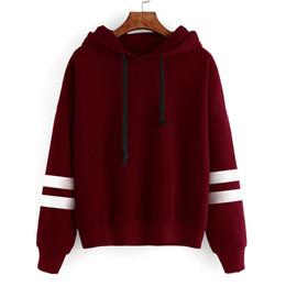 wholesale stylish jackets 2019 - 2017 Autumn Stylish Design Long Sleeve Women Hoodies Sweatshirts Hooded Female Jumper Women's Tracksuit Warm Pullov