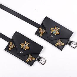 $enCountryForm.capitalKeyWord NZ - Brand Designer Fanny Pack For Women Waist Bag Diamonds Bee Small Belt Bag Hand Free Bags Female Pouch Bum Waist Pack 8164