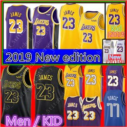 951d629731e Chinese James Men's Kids 2019 edition Jersey Los Angeles Lakers 23 LeBron  James Jerseys 2018 NEW