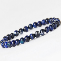 wholesale blue eye bracelet NZ - High Quality Blue Tiger Eye Buddha Bracelets Natural Stone Round Beads Elasticity Rope Men Women Bracelet