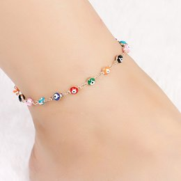 $enCountryForm.capitalKeyWord Australia - Turkish evil Eyes Beads Anklets for Sandals bracelets anklets woman pendant bracelet ankle foot jewelry #275583