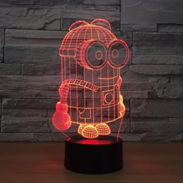 $enCountryForm.capitalKeyWord Australia - Mini-ons 3D Optical Illusion Lamp Night Light DC 5V USB Powered 5th Battery Wholesale Dropshipping Free Shippin