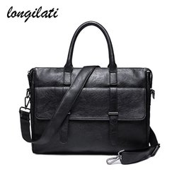 $enCountryForm.capitalKeyWord NZ - Men Laptop Briefcase Leather Business Casual Tote Bags Mens Office Work Bags Computer Shoulder Crossbody Bag Handbag Maletin