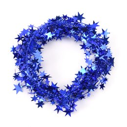 hanging star christmas decoration NZ - 7.5m 7 Colors Christmas Tree Hanging Star Pine Garland Christmas Decoration Ornament
