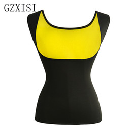 plus size waist trimmers UK - Plus Size 2XL Women Neoprene Shape Wear Waist Trainer Push Up Vest Postpartum Tummy Trimmer Body Fat Burning Slimming Belt Vests