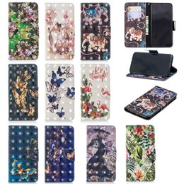 Wholesale iphone effects for sale - Group buy 3D Effect Elephant Butterfly Flower PU Leather Wallet Flip Case For iPhone X XS Max XR Samsung S8 S9 Plus A6 A8 J4 J6 J3 J5 Pro