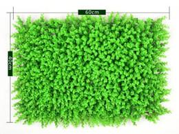Medio ambiente artificial césped pared Milán eucalipto plástico a prueba de césped 60 * 40 cm exterior Ivy valla Bush planta pared jardín decoraciones