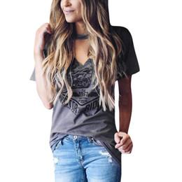 22eff7d8b562 2018 fashion Female T-Shirt Casual Short Sleeve Women Tshirt Fashion Choker V  Neck Sexy Club Long T Shirts Loose Tops Tees