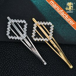 diamonds hair china Australia - Simple and generous hairpin diamond hairpin metal micro-inlaid zircon rhinestone disk hair drop clip hairpin headwear