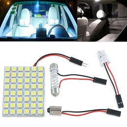 $enCountryForm.capitalKeyWord NZ - 5PCS Festoon T10 BA9S LED Panel Dome Lights Car Interior Reading Plate Panel Light Roof Ceiling Wired Lamp White 5050 48SMD