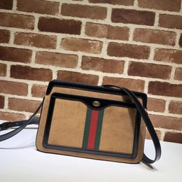 3e381eff1b85b Top Quality Luxury Brand design Letter Ribbon Metal Buckle Shoulder Bag  Deerskin leather Woman 523354 Large Messenger Bag