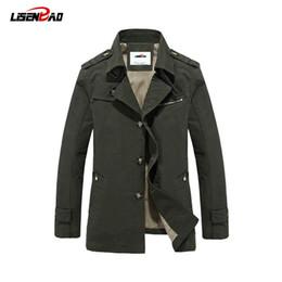 Military Parka Men Canada - Military Coats Men's Jacket Clothing Casual Autumn winter parka Outdoors Jacket Men Long Jacket Single Breasted Plus Size 5XL