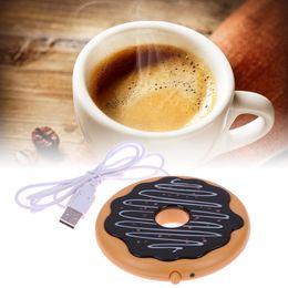 Coffee mug Cup usb online shopping - Creative Giant Donut USB Cup warmer Cute Hot Cookie Mug Warmer Coaster Office Tea Coffee Beverage USB powered Heater Biscuit Tray Pad